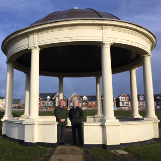 Image demonstrating Blyth bandstand shining bright again