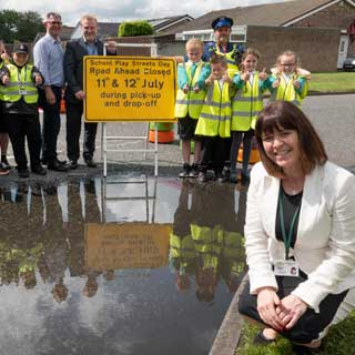 Image demonstrating County school pioneers road safety initiative