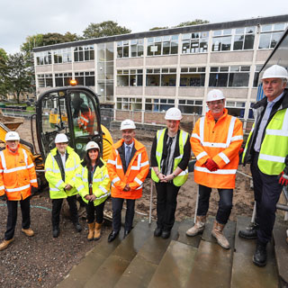 Image demonstrating New sixth form centre opened during Haydon Bridge visit