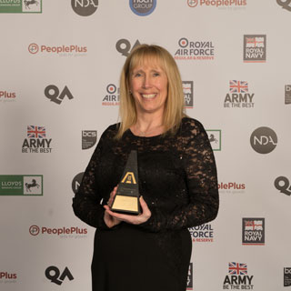 Julie Mills at the National Apprenticeship Awards