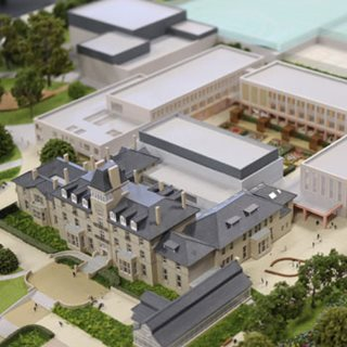 Picture of model of new schools