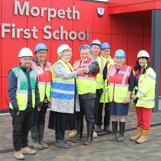Image showing The keys to a new door for education in Morpeth