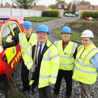 Image demonstrating Start of work on new fire station at Ponteland