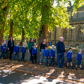 Image demonstrating Striding into walk to school month
