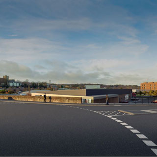 Artist's impression of development on bunker site, Hexham