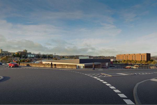 Artist's impression of development on bunker site, Hexham