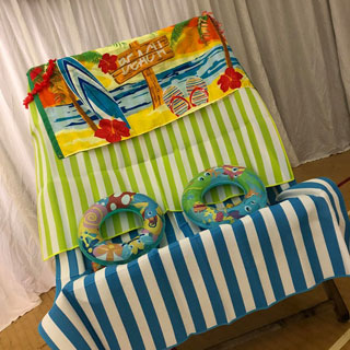 Colourful deckchair at the event