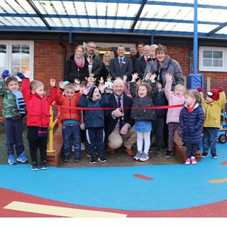 Image demonstrating A new play area for Pegswood Primary nursery