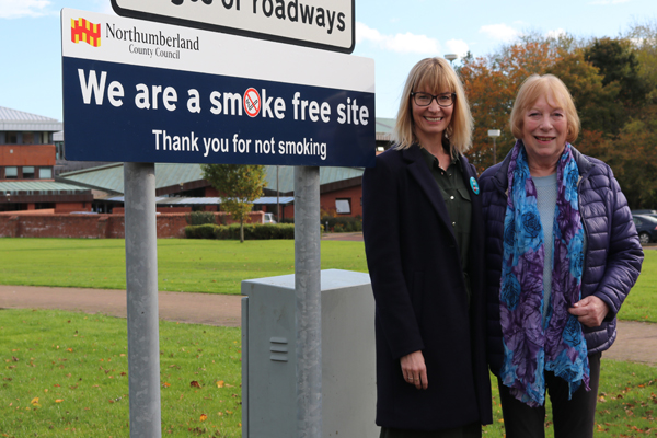 Image demonstrating Northumberland County Council sites go smokefree