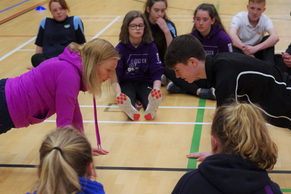 Young people training to be sports volunteers
