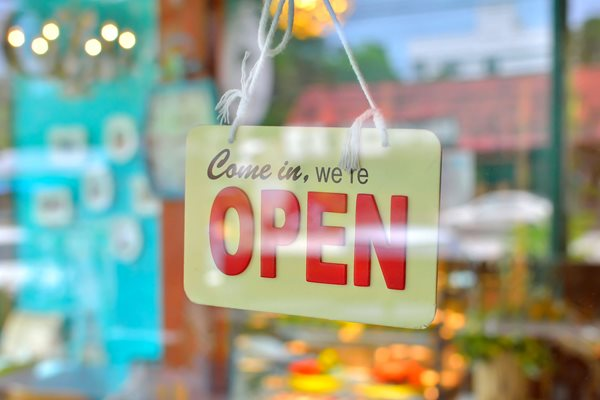 Picture of business open sign