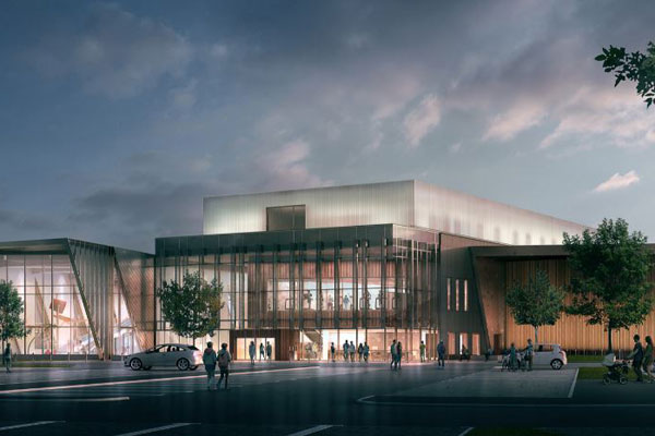 Digital image of what the Berwick leisure centre will look like