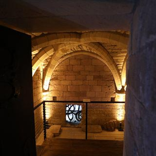 Newly opened crypt of St Aidan's Church in Bamburgh