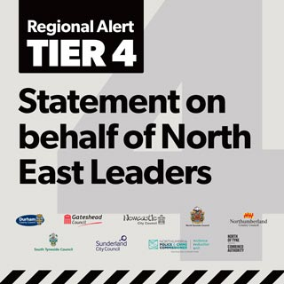 Image demonstrating Government places North East in Tier 4