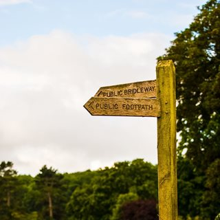 Photo of bridleway and footpath sign
