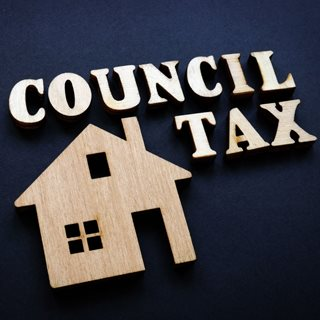 Graphic with the words Council Tax