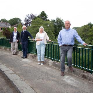 Councillors on Felton Bridge