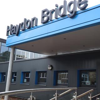 Photo of new school entrance