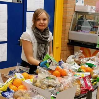 Katie Appleyard a volunteer from Cramlington Voluntary Youth Project