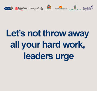 Let's not throw away all your hard work, leaders urge