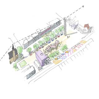 A sketch of plans for Blyth town centre