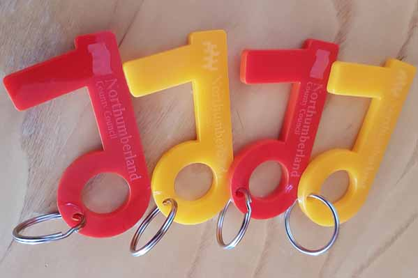 No Touch Tool keyrings
