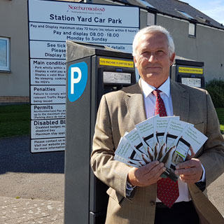 Cllr Glen Sanderson in Seahouses carpark