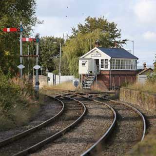 A railway line
