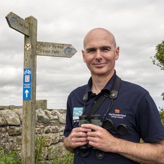 Photo of Richard Willis, coastal warden