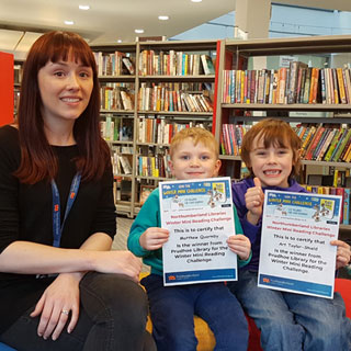 Winners of the Winter Reading Challenge at Prudhoe Library