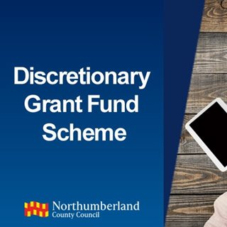 Photo with words Discretionary Grant Scheme on it