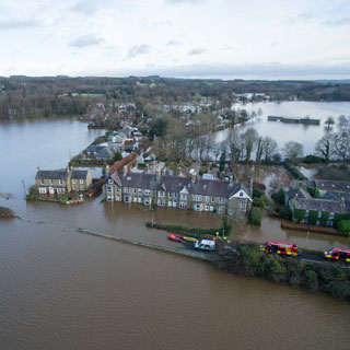 Corbridge in flood