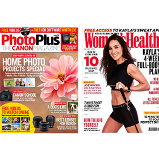 Photo of magazine front covers