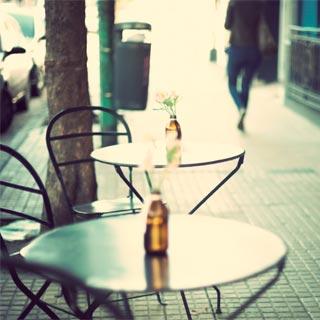A pavement cafe