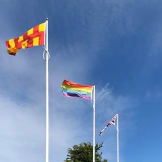 The rainbow flag at County Hall