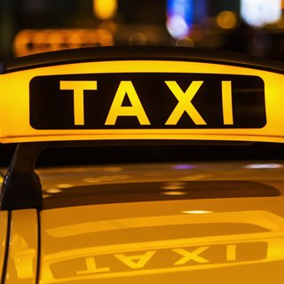 Photo of taxi sign