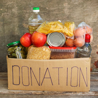 A charity food box