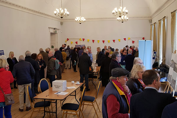 Scene from the Hexham Hub event