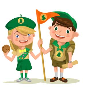 A cartoon picture of scouts