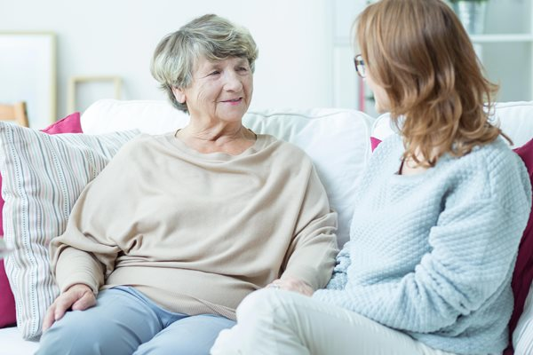 Adult Social Care - Elderly lady with carer