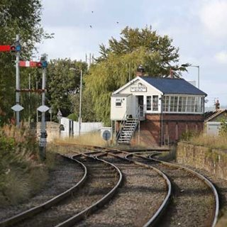 Photo of signal box on Northumberland Line