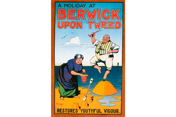 Poster by Robert Cooper Clements to promote Berwick as a Tourist resort - 1913
