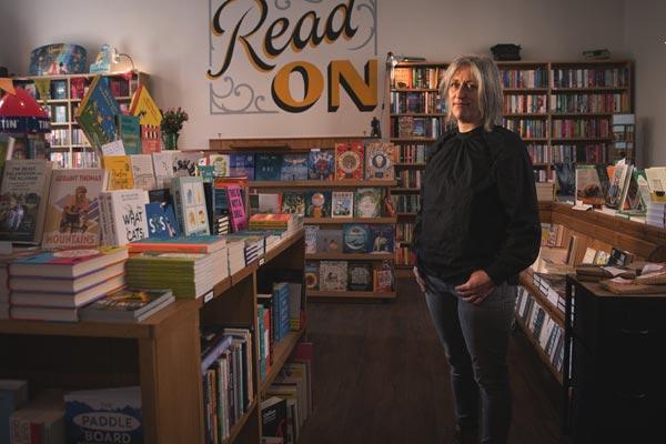 Helen Stanton, of Forum Books, Corbridge