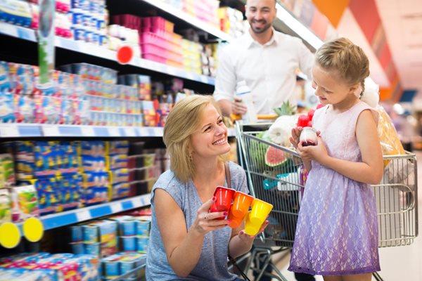 Mum and child shopping