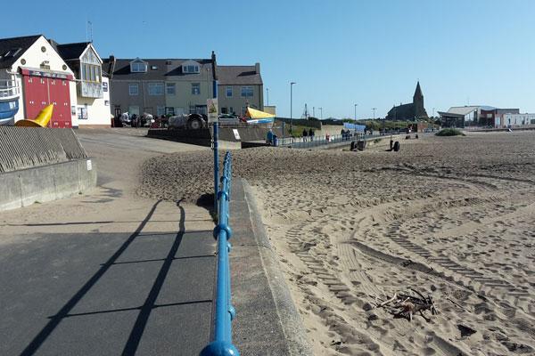Image demonstrating Newbiggin Promenade improvement works to start