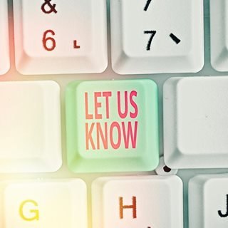 Let Us Know button