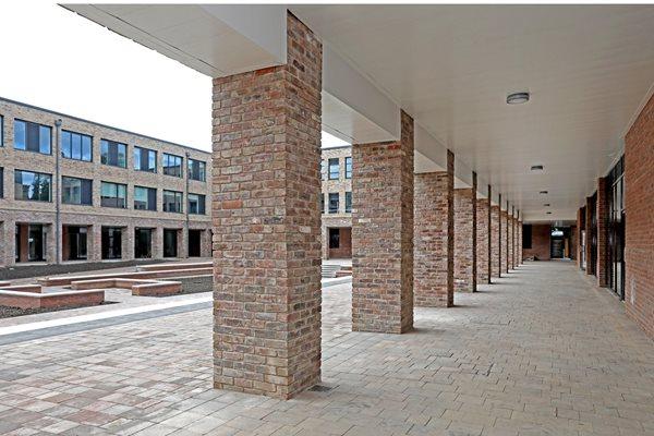 Hexham schools - courtyard