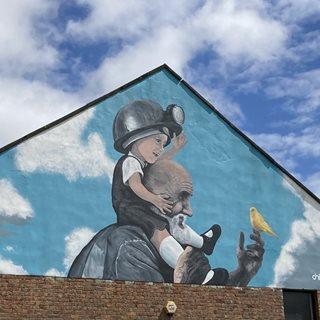 Photo of mural on wall in Ashington
