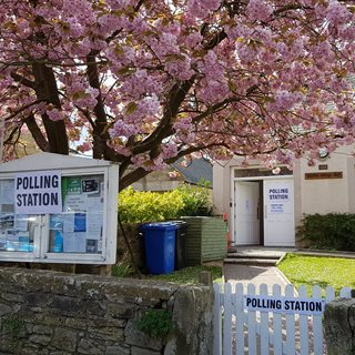 Photo of a polling station