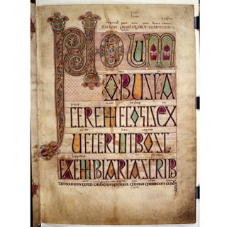 Incipit to Jeromes letter to Damascus, Lindisfarne Gospels c. 700 (Cotton MS Nero D IV) (c.) British Library Board 2